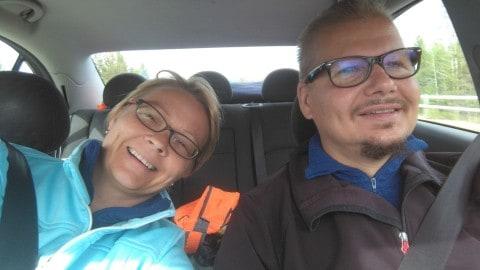 WordPress osaaja Keijo Mämmi ja Sisällöntuottaja Kati Palm markustavat kesällä 2018